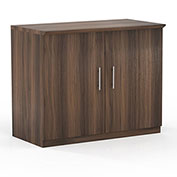 "Mayline® Medina Series 36"" Storage Cabinet with Wood Doors Textured Brown Sugar"