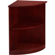 Mayline® Medina Series Quarter-Round Corner 2 Shelf Bookcase Mahogany