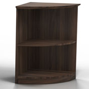 Mayline® Medina Series Quarter-Round Corner 2 Shelf Bookcase Textured Brown Sugar