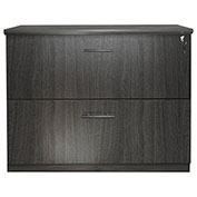 Mayline® Medina Series 2 Drawer Lateral File Gray Steel