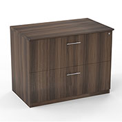 Mayline® Medina Series 2 Drawer Lateral File Textured Brown Sugar