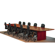 Mayline® Napoli Series 18' Conference Table Sierra Cherry