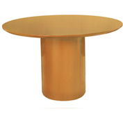 "Mayline® 48"" Round Conference Table - Golden Cherry - Napoli Series"