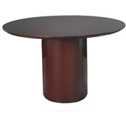 "Mayline® 48"" Round Conference Table - Mahogany - Napoli Series"