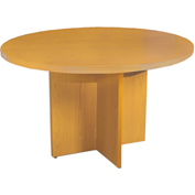 "Mayline® 42"" Round Conference Table Maple - Luminary Series"