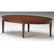 Mayline® Sorrento Series Reception Stations/Occasional Oval Coffee Table Bourbon Cherry