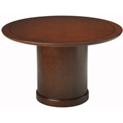 "Mayline® 48"" Round Conference Table - Bourbon Cherry - Sorrento Series"