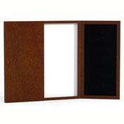 Mayline® Sorrento Series Conference Room Presentation Board Bourbon Cherry