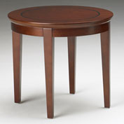 "Mayline® Reception End Table - 24"" Round - Bourbon Cherry - Sorrento Series"