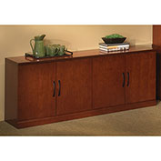 Mayline® Sorrento Series Low Wall Cabinet Bourbon Cherry