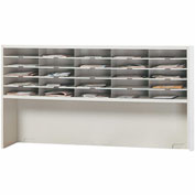 Mayline® Mailflow-To-Go Systems 2-Tier Elevated Sorter - 40 Pockets