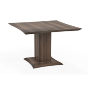 "Mayline® 42"" Square Conference Table - Textured Brown Sugar - Sterling Series"