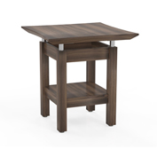 "Mayline® Sterling Series 24"" Square End Table Textured Brown Sugar"