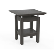 "Mayline® 24"" Square End Table - Textured Driftwood - Sterling Series"