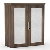 "Mayline® Sterling Series 36"" Storage Cabinet with Acrylic Doors Textured Brown Sugar"