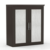 "Mayline® Sterling Series 36"" Storage Cabinet with Acrylic Doors Textured Mocha"