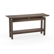"Mayline® Sterling Series 58"" Rectangle Sofa Table Textured Brown Sugar"