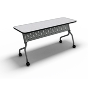 "Mayline® Training Table with Flip Top - 18"" x 48"" Anthracite - Sync Series"
