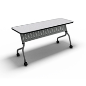 "Mayline® Training Table with Flip Top - 24"" x 48"" Anthracite - Sync Series"