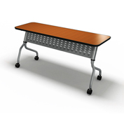 "Mayline® Training Table with Flip Top - 48"" x 24"" Biltmore Cherry - Sync Series"