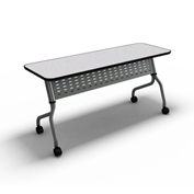 "Mayline® Training Table with Flip Top - 24"" X 60"" Anthracite - Sync Series"
