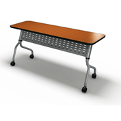 "Mayline® Sync Series 72"" x 24"" Rectangular Flip-Top Training Table Biltmore Cherry"