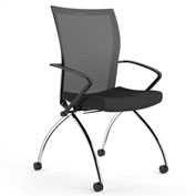 Mayline® Valoré Training Mesh Fabric High-Back Chair w/ Arms & Casters Black - 2 Pack