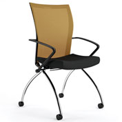 Mayline® Valoré Training Mesh Fabric High-Back Chair w/ Arms & Casters Orange - 2 Pack