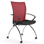Mayline® Valoré Training Mesh Fabric High-Back Chair with Arms & Casters Red - 2 Pack