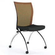 Mayline® Valoré Training Series Mesh Fabric High-Back Chair with Casters Orange - 2 Pack