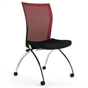 Mayline® Valoré Training Series Mesh Fabric High-Back Chair with Casters Red - 2 Pack