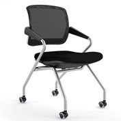 Mayline® Valoré Training Mesh Fabric Mid-Back Chair with Arms & Casters Black - 2 Pack