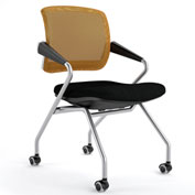 Mayline® Valoré Training Mesh Fabric Mid-Back Chair with Arms & Casters Orange - 2 Pack