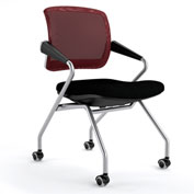 Mayline® Valoré Training Mesh Fabric Mid-Back Chair with Arms & Casters Red - 2 Pack