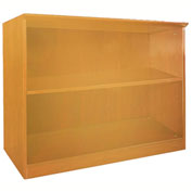 Mayline® Corsica Series 2 Shelf Bookcase Golden Cherry