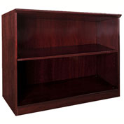 Mayline® Corsica Series 2 Shelf Bookcase Mahogany