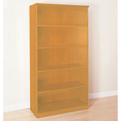 Mayline® Corsica Series 5 Shelf Bookcase Golden Cherry