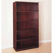 Mayline® Corsica Series 5 Shelf Bookcase Mahogany