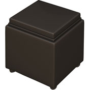 Mayline® Santa Cruz Lounge Series Storage Ottoman with Casters Black