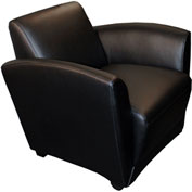Mayline® Reception Lounge Chair - Black  - Santa Cruz Series