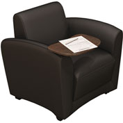 Mayline® Santa Cruz Lounge Series Mobile Lounge Chair with Fixed Arms & Tablet Black