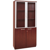Mayline® Corsica Series High Wall Cabinet with Doors Sierra Cherry