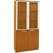 Mayline® Corsica Series High Wall Cabinet with Doors Golden Cherry