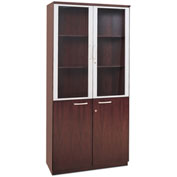 Mayline® Corsica Series High Wall Cabinet with Doors Mahogany