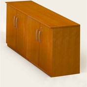 Mayline® Corsica Series Low Wall Cabinet with Doors with All Wood Doors Golden Cherry