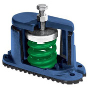 """Housed Spring Floor Mount Vibration Isolator - 5-3/4""""L x 2-1/8""""W Brown"""