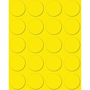 "3/4"" Yellow Magnetic Circles 20/Pk"