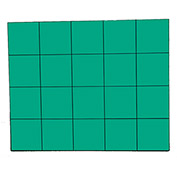 "3/4"" Green Magnetic Squares 20/Pk"