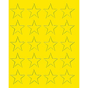 "3/4"" Yellow Magnetic Stars 20/Pk"