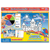 The Board Dudes™ SpinnerZ Dry-Erase Learning Mat, Colors, Shapes & Sizes, 1 Each